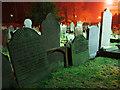 J5081 : Gravestones, Bangor Abbey by Rossographer