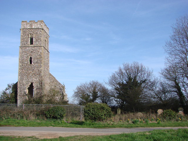 Panxworth ruined church of All Saints