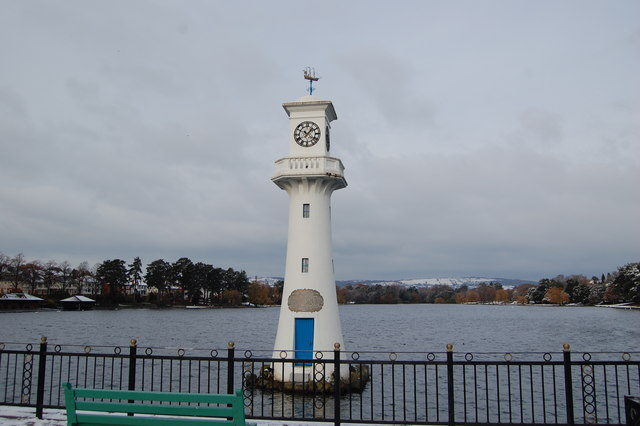 Scott Memorial, Roath Park Lake, Roath, Cardiff