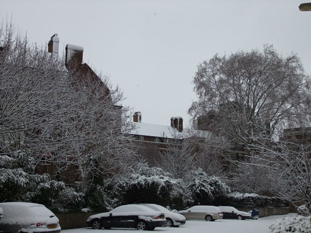 Snow in Bessborough Place, Pimlico