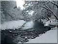 SN6312 : River Amman after snowfall : Week 50