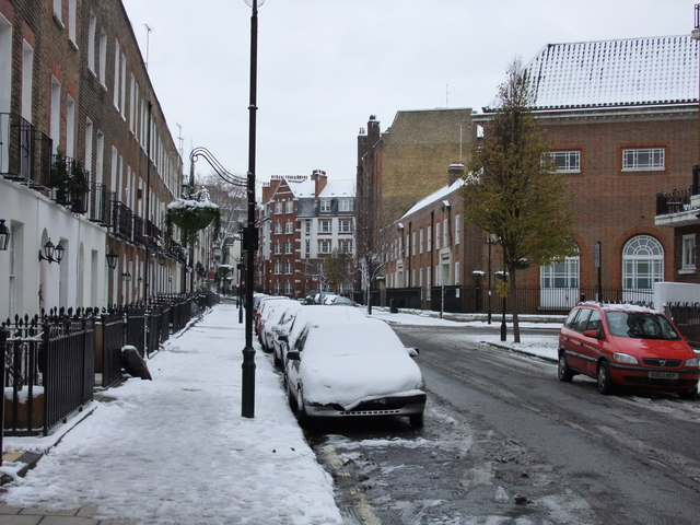 Snowy Shouldham Street, London