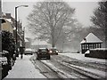 SP2872 : Abbey Hill in the snow by John Brightley