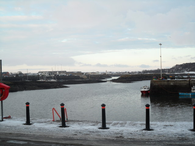 Winter scene at Ardglass Harbour