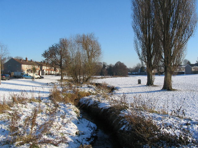The brookstray in snow