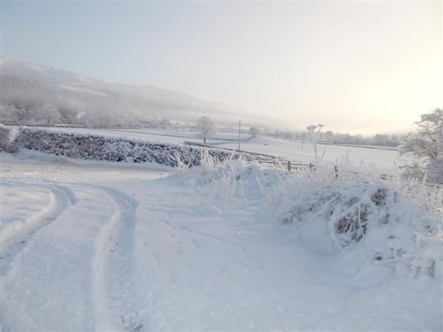 Christmas day 2010. The frozen North Wales.