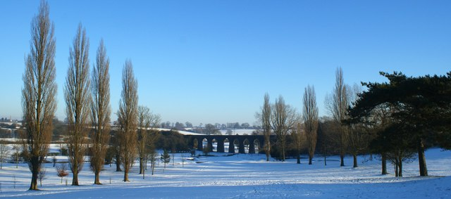 Rugby Golf Club under snow