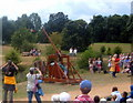TQ7825 : Bodiam Castle, Trebuchet in action by Helmut Zozmann