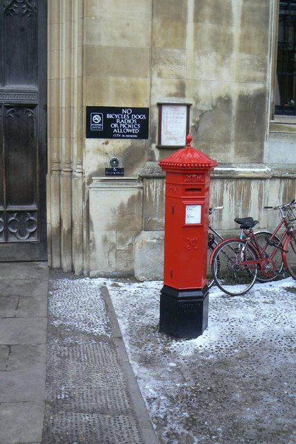 Penfold pillar box outside King's College