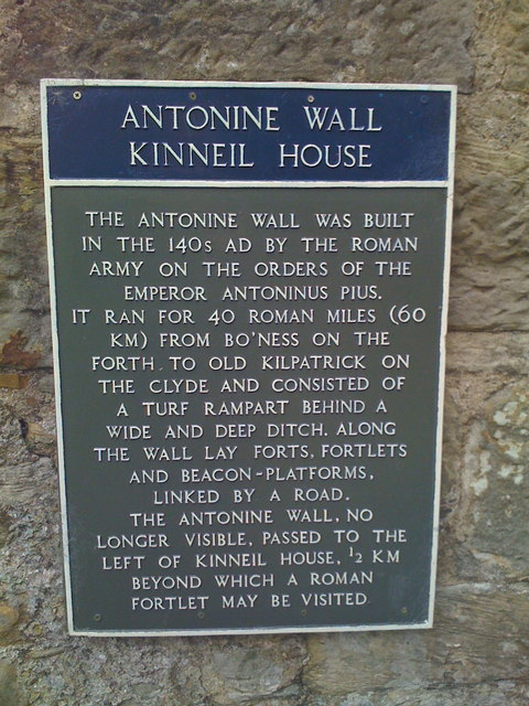 Antonine wall at Kinneil house