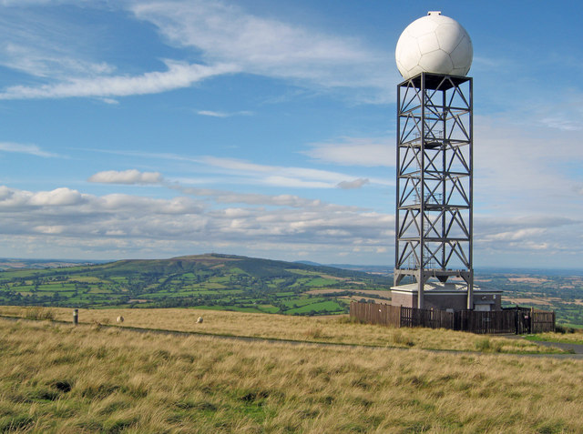 Radar Installation On Titterstone Clee Trevor Rickard