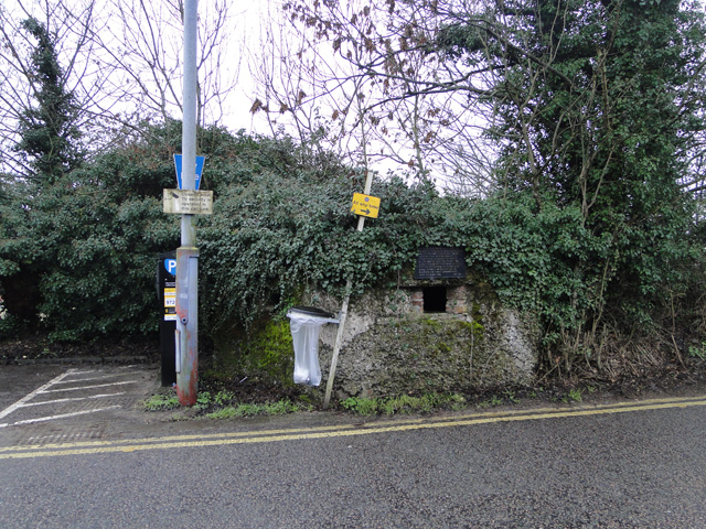 Pillbox at Diss Railway Station approach