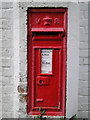 TM4495 : Victorian postbox on the old Aldeby Station at Wheatacre by Adrian S Pye