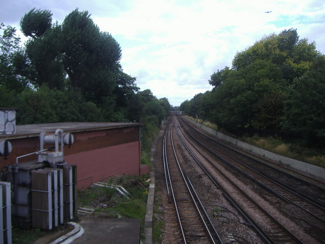 Railway line, Wandsworth Common