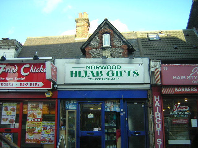 Portland Road, South Norwood: shops, north side