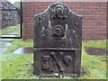 NS3975 : The gravestone of Janet McIntyre by Lairich Rig