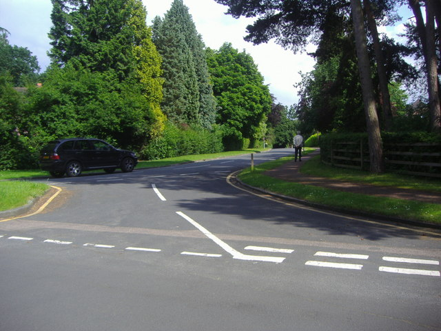 Holtwood Road, at junction with Goldrings Road, Oxshott