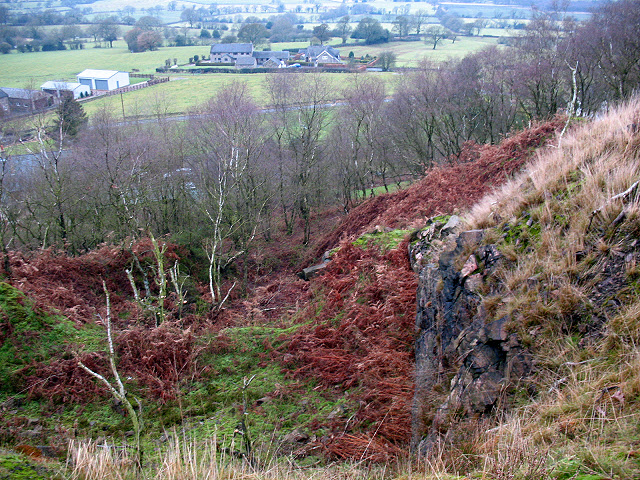 Former quarry on Congleton Edge