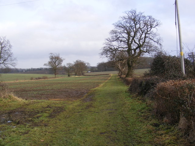 Footpath to the A1120 Yoxford Road & Green Road