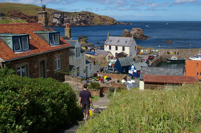 Steps leading down to St Abbs harbour