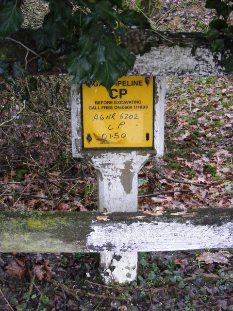 Gas Pipeline marker on Rendham Road