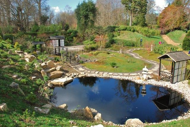 Kingston lacy japanese garden pool eugene birchall for Japanese garden pool