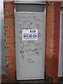 SJ3688 : The security door and graffiti at #9 Madryn Street, Toxteth by John S Turner