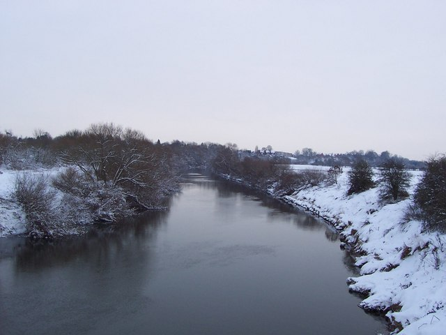 View down the Severn from the new bridge