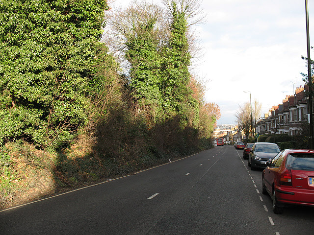 Westcombe Hill, upper section