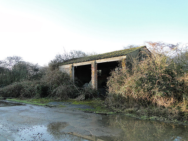 Old buildings on the old Metfield airfield
