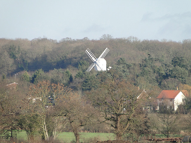 Overlooking the Bly Valley towards Holton Windmill