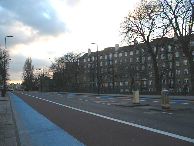 Clapham Road, looking south