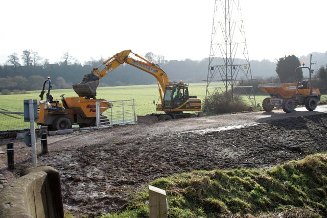 Environment Agency contractors at work