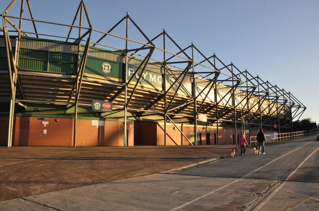 Plymouth Home Park Football Stadium