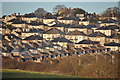 SX4756 : Plymouth : Central Park - Houses on the Hillside by Lewis Clarke