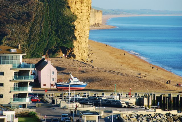 West Bay: Lofty view of the seafront