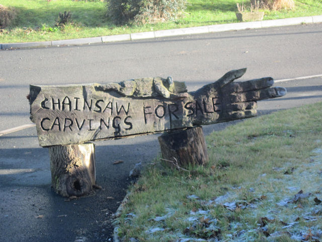 Chainsaw carvings for sale john firth geograph