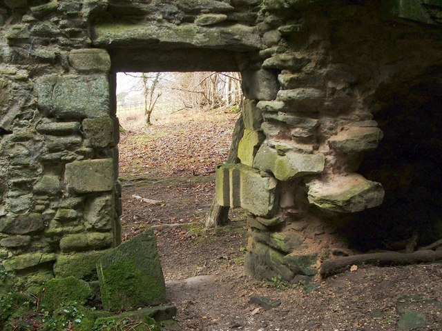 Kilmahew Castle - western entrance
