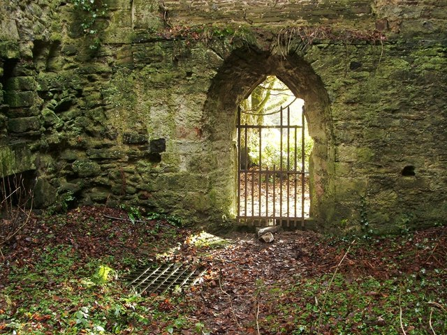 Kilmahew Castle - southern entrance