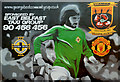 J3775 : George Best mural, Sydenham, Belfast by Albert Bridge