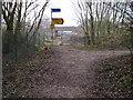 SJ8590 : Footpath at site of East Didsbury Metrolink Station by Chris Wimbush