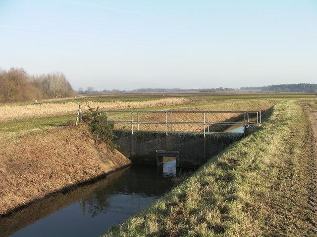 Footbridge over drain