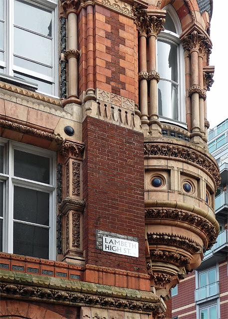 Detail of former Doulton's works, Black Prince Road