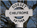 SY5898 : Chilfrome: detail of finger-post by Chris Downer