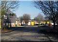 SU6894 : Yellow Doors in the Business Park by Des Blenkinsopp