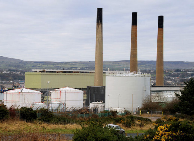 Chimneys, Ballylumford power stations, Islandmagee (1)
