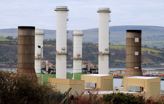 Chimneys, Ballylumford power stations, Islandmagee (2)