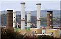 D4201 : Chimneys, Ballylumford power stations, Islandmagee (2) by Albert Bridge