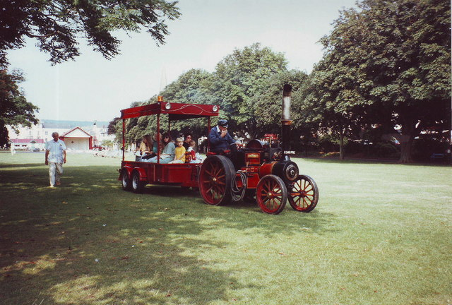 Steam locomotive on The Lawn, Dawlish