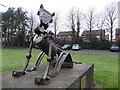 J0458 : Metal sculpture, Tannaghmore Gardens by Kenneth  Allen